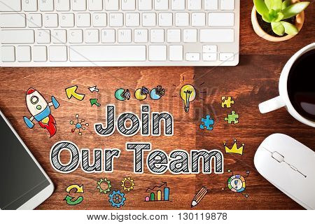 Join Our Team Concept With Workstation
