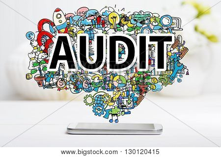 Audit Concept With Smartphone