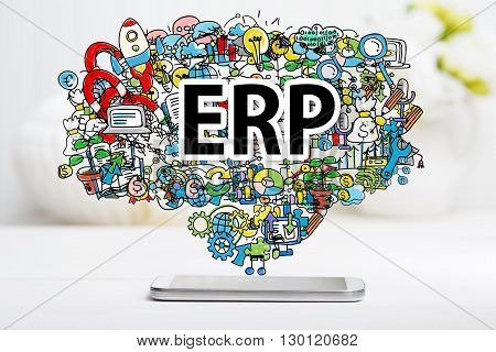 Erp Concept With Smartphone