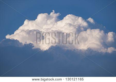 Cumulus cloud blue sky room for text