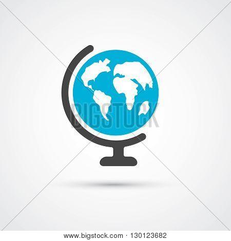 Color globe flat trendy icon.  Vector illustration