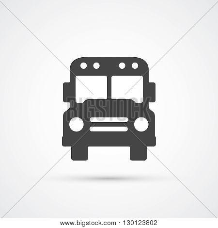 Trendy flat School Bus icon.  Vector illustration
