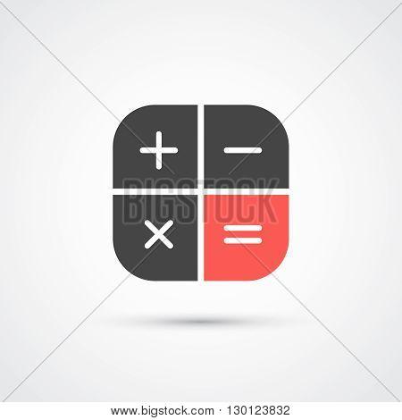 Trendy flat calculator trendy icon.  Vector illustration