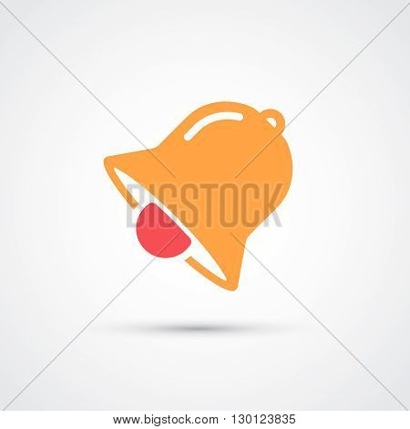Bell color flat trendy icon.  Vector illustration