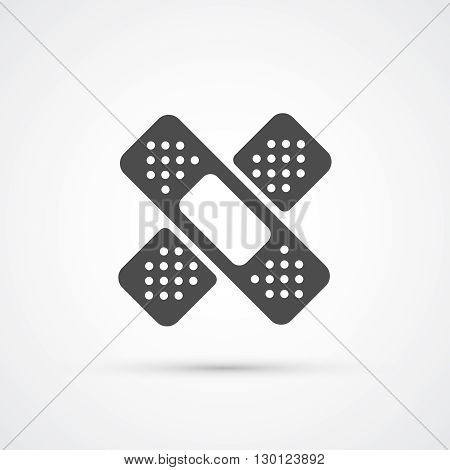 Medical plaster flat trendy icon. Vector illustration