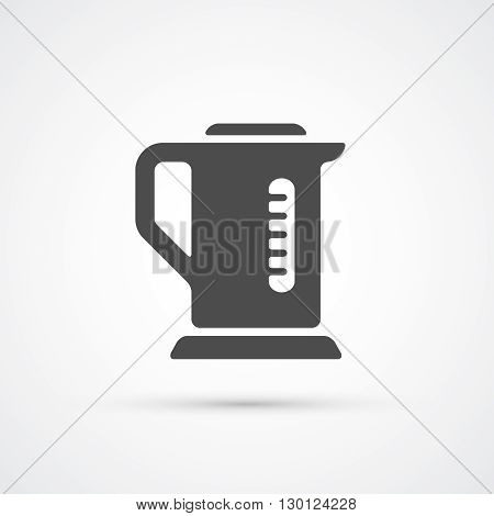 Teapot kettle trendy iflat con. Vector illustration