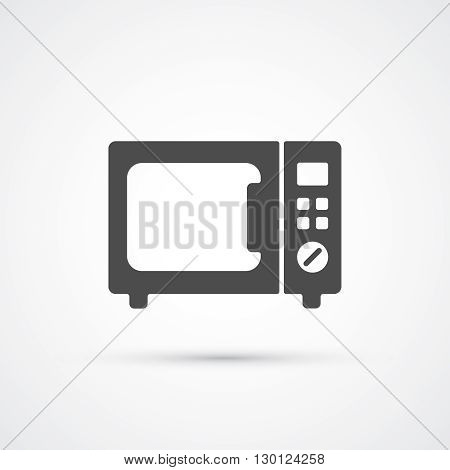 Microwave trendy flat black icon. Vector illustration