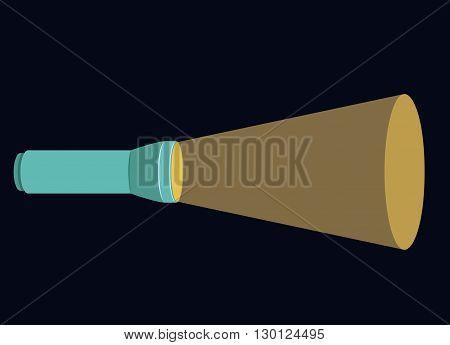 flash light icon design, vector illustration eps10 graphic