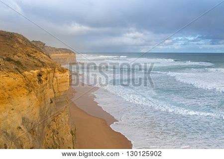 Coastal view from the Gibson Steps in Port Campbell National Park on the Great Ocean Road in Victoria, Australia