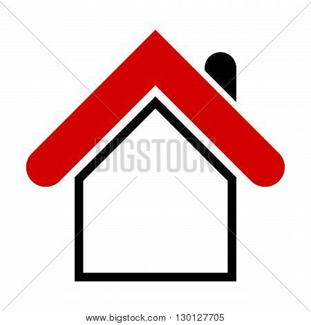 Modern house icon. Simple design element for web print etc. Isolated on white background