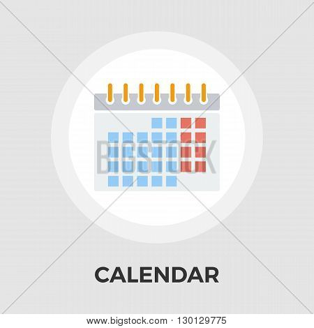 Calendar Icon Vector. Flat icon isolated on the white background. Editable EPS file. Vector illustration.