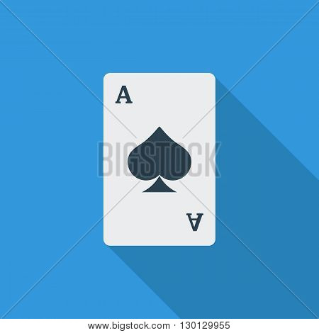 Play card icon. Flat vector related icon with long shadow for web and mobile applications. It can be used as - logo, pictogram, icon, infographic element. Vector Illustration.
