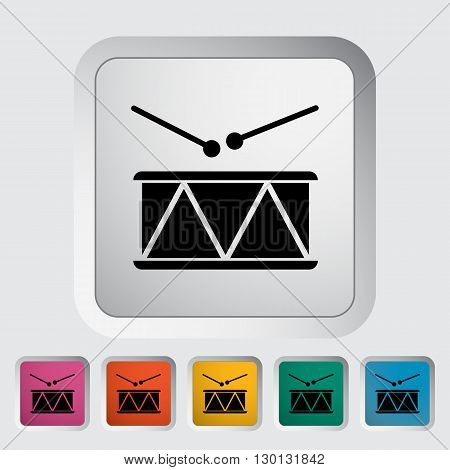 Drum icon. Flat vector related icon for web and mobile applications. It can be used as - logo, pictogram, icon, infographic element. Vector Illustration.