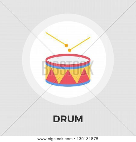 Drum icon vector. Flat icon isolated on the white background. Editable EPS file. Vector illustration.