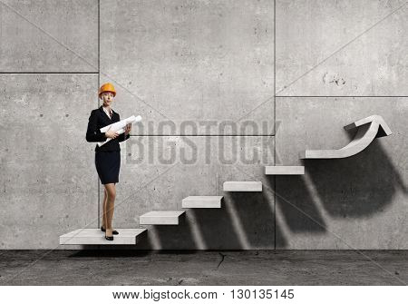 Woman designer in interior
