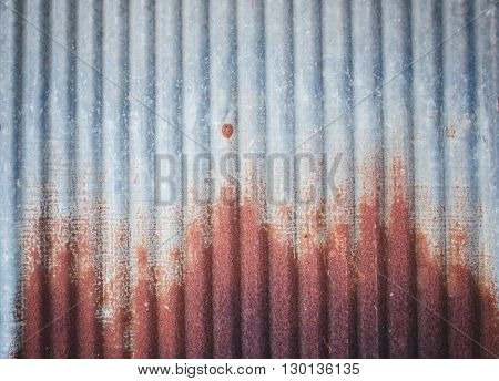 Old zinc steel wall texture for background