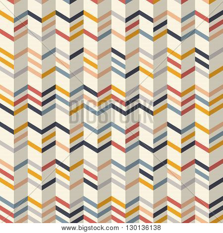 Fashion zigzag pattern in yellow and colors. Seamless chevron pattern. Vector background