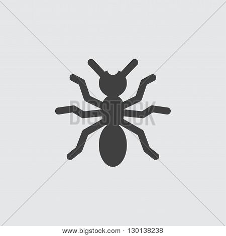 Spider icon illustration isolated vector sign symbol