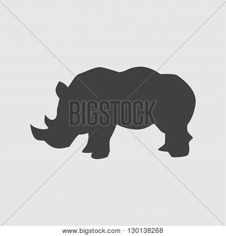 Rhinoceros icon illustration isolated vector sign symbol