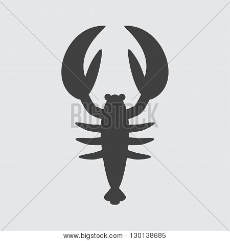 Lobster icon illustration isolated vector sign symbol