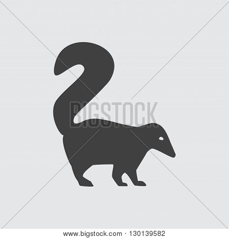 Skunk icon illustration isolated vector sign symbol