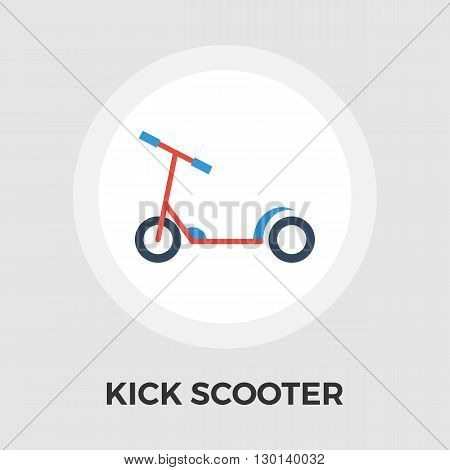 Scooter child icon vector. Flat icon isolated on the white background. Editable EPS file. Vector illustration.
