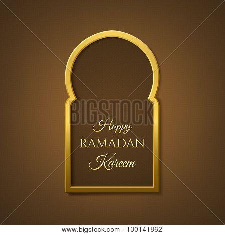 Happy Ramadan Kareem background. Stock vector illustration.