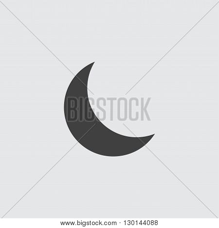 Half moon icon illustration isolated vector sign symbol