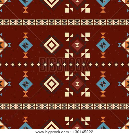Geometric ethnic seamless pattern. Abstract beautiful aztec background. Good for web, print, wrapping paper