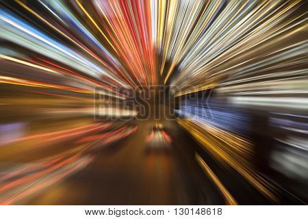 Colorful Speed Light Trails Zoom Effect - Speed Concept