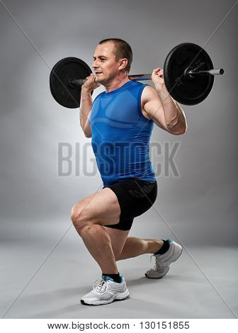 Man Doing Lunges, Legs Workout