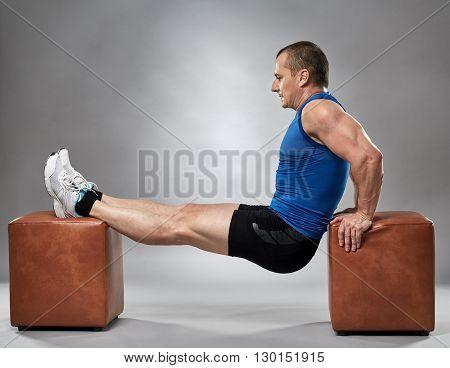 Man Doing Pushup Dips