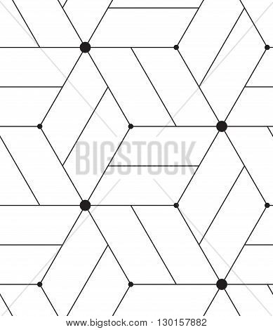 Vector Seamless Pattern. Modern Line Geometric Background