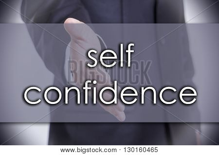 Self Confidence - Business Concept With Text