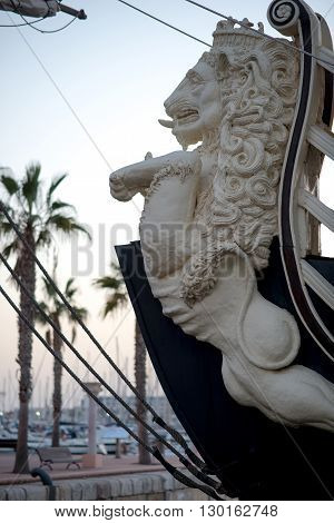 Alicante Spain- February 24 2016: Bow of the
