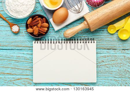 Baking Background With Notebook