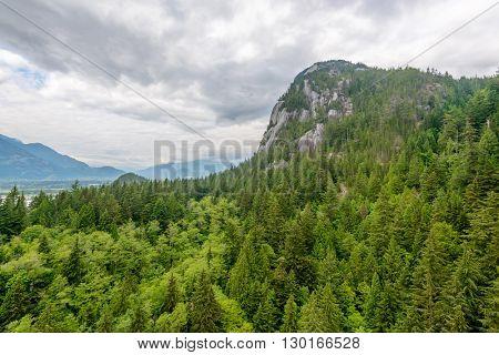 Rocky Mountains. Coastal Mountains. Chief Peak trail in Sea to Sky Park. British Columbia. Canada.