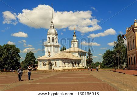 Vologda, Russia - May 27: This is the church of Alexander Nevsky Cathedral in Vologda which is a regional architectural monument of the 18th century May 27, 2013 in Vologda, Russia.
