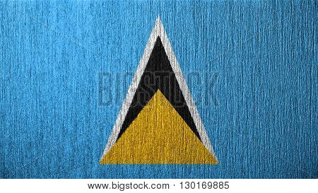 Flag of Saint Lucia painted on metal