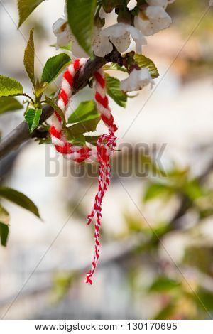 Martenitsa traditional Bulgarian symbol give away with wishes for health and welfare.