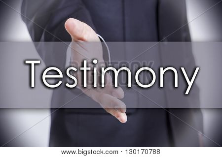 Testimony - Business Concept With Text