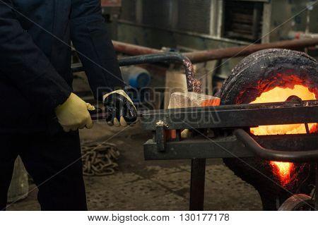 metal melting factory