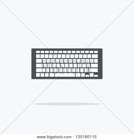Keyboard. Icon Keypad on a light background. Vector illustration.