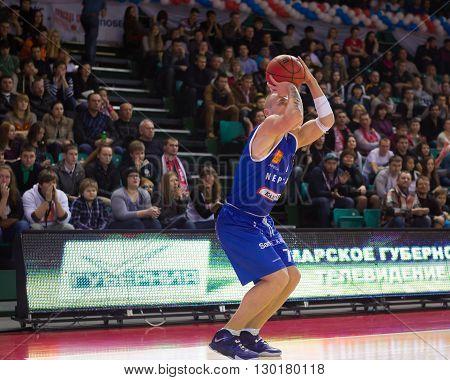 Bc Neptunas Guard Martynas Mazeika (7) Makes 3-point Shot