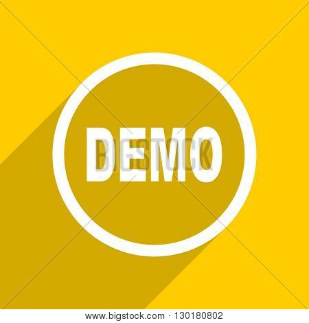 yellow flat design demo web modern icon for mobile app and internet