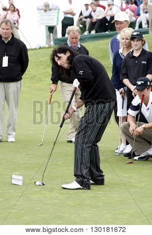 Alice Cooper at the Ninth Annual Michael Douglas & Friends Celebrity Golf Tournament held at the Trump National Golf Club in Rancho Palos Verdes, USA on April 29, 2007.