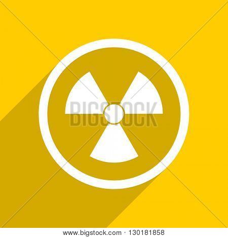 yellow flat design radiation web modern icon for mobile app and internet