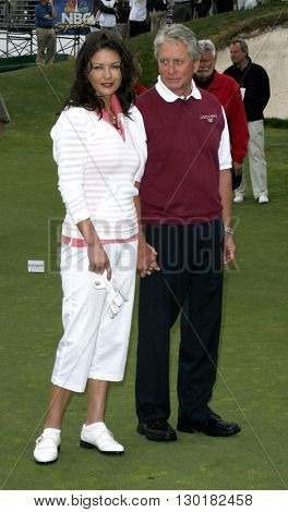 Catherine Zeta-Jones and Michael Douglas at the 9th Annual Michael Douglas & Friends Celebrity Golf Tournament held at the Trump National Golf Club in Rancho Palos Verdes, USA on April 29, 2007.