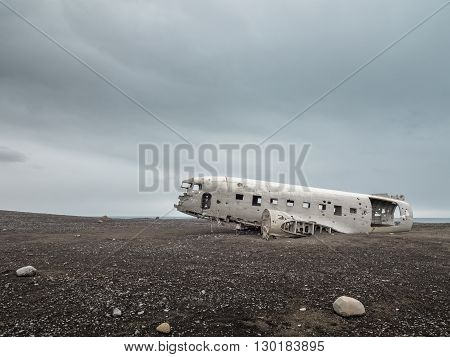 Solheimasandur plane wreck near Vik in south Iceland