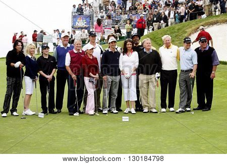 Michael Douglas, Samuel L. Jackson, Alice Cooper, Catherine Zeta-Jones, Heather Locklear, Josh Duhamel, Cheryl Ladd, Samuel L. Jackson and Mark Wahlberg at the Trump Golf Club on April 29, 2007.
